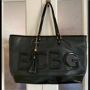 BCBG large logo black bag